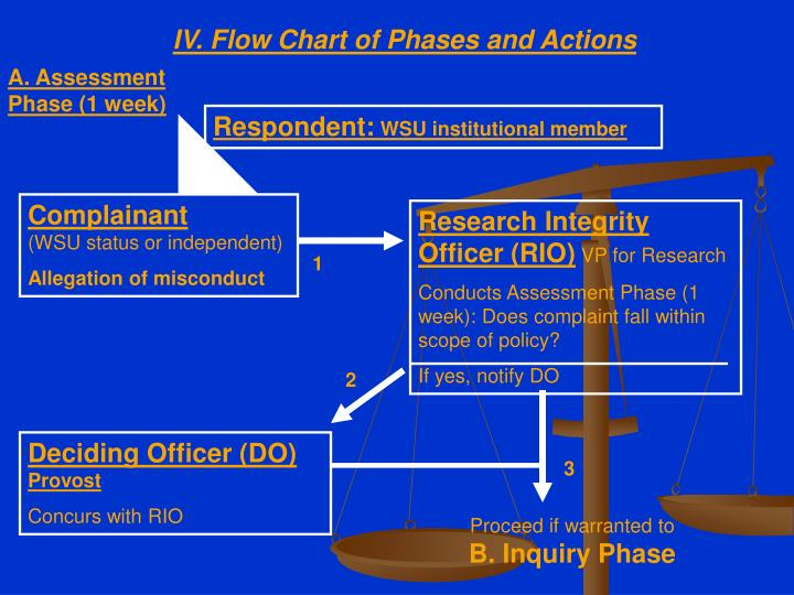 IV. Flow Chart of Phases and Actions