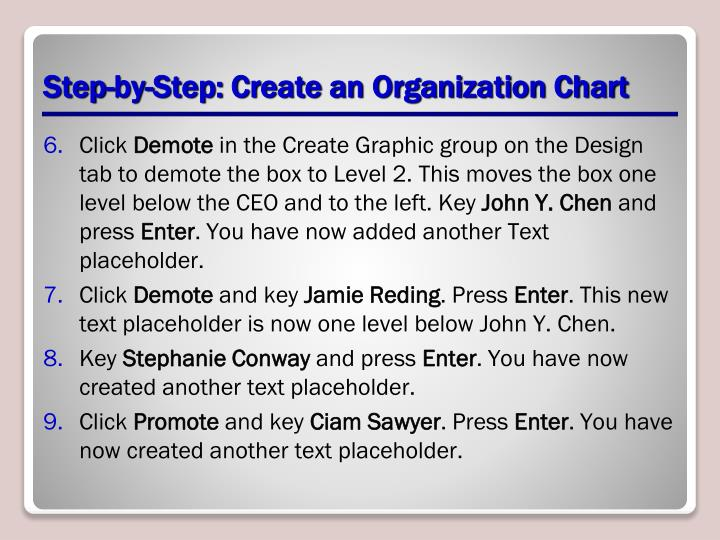 Step-by-Step: Create an Organization Chart