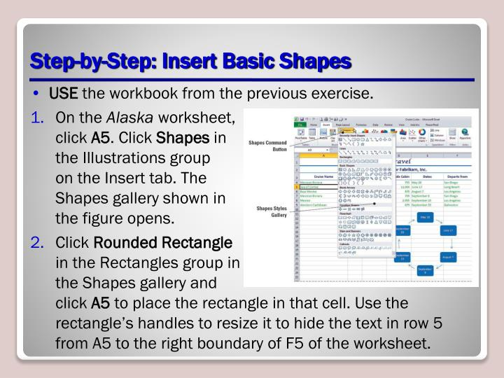 Step-by-Step: Insert Basic Shapes