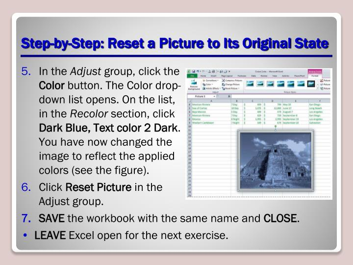 Step-by-Step: Reset a Picture to Its Original State