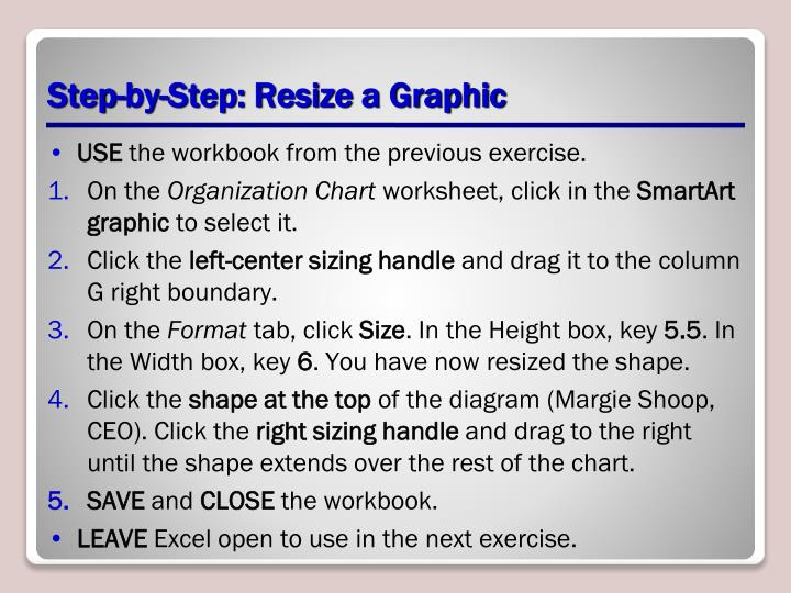 Step-by-Step: Resize a Graphic