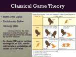 classical game theory