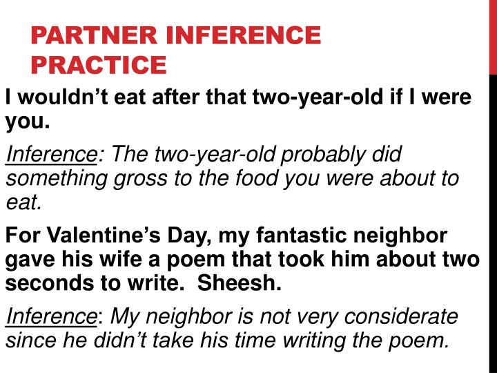 Partner Inference Practice