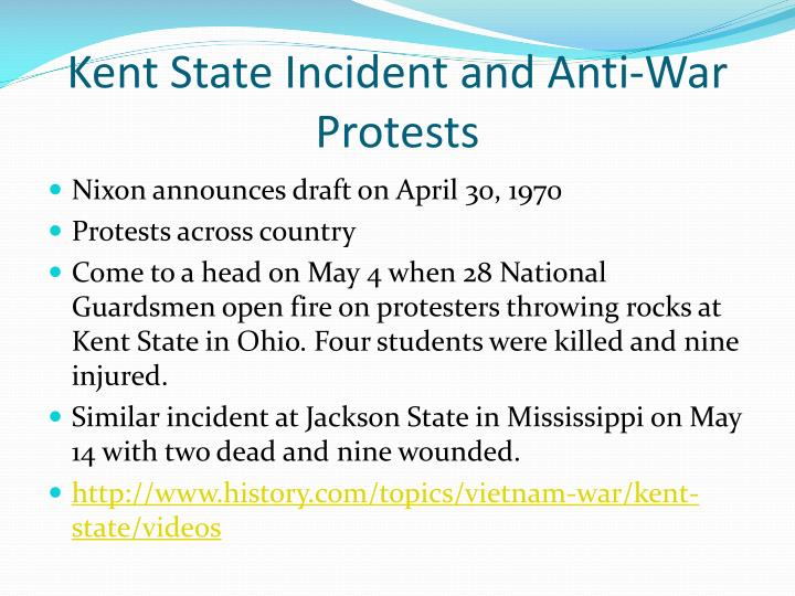 Kent State Incident and Anti-War Protests