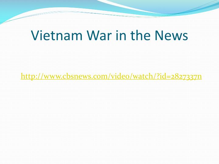Vietnam War in the News