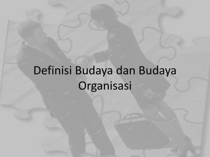 Definisi Budaya dan Budaya Organisasi
