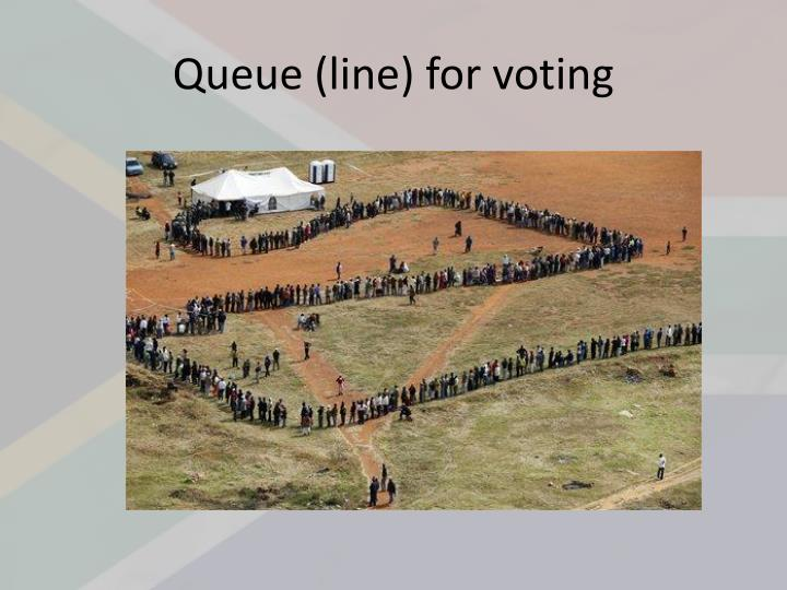 Queue (line) for voting