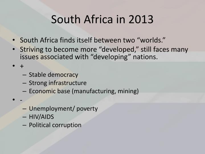 South Africa in 2013