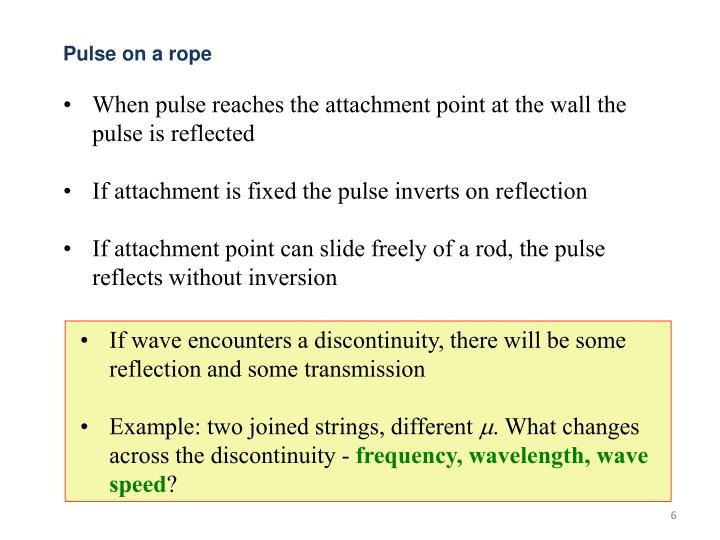 Pulse on a rope