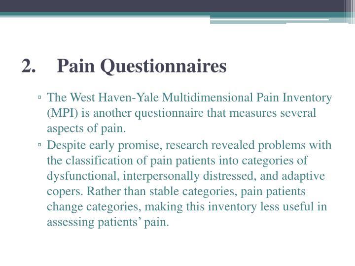 2.Pain Questionnaires