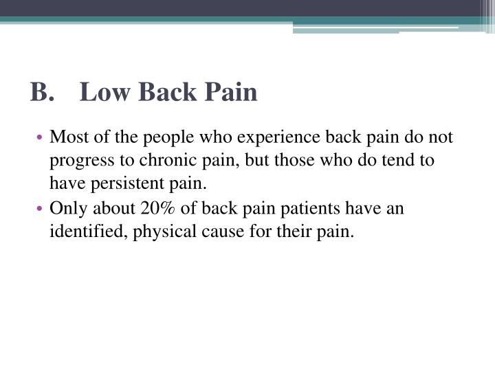 B.Low Back Pain