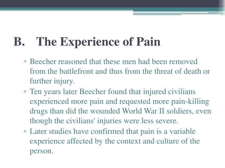 B.The Experience of Pain