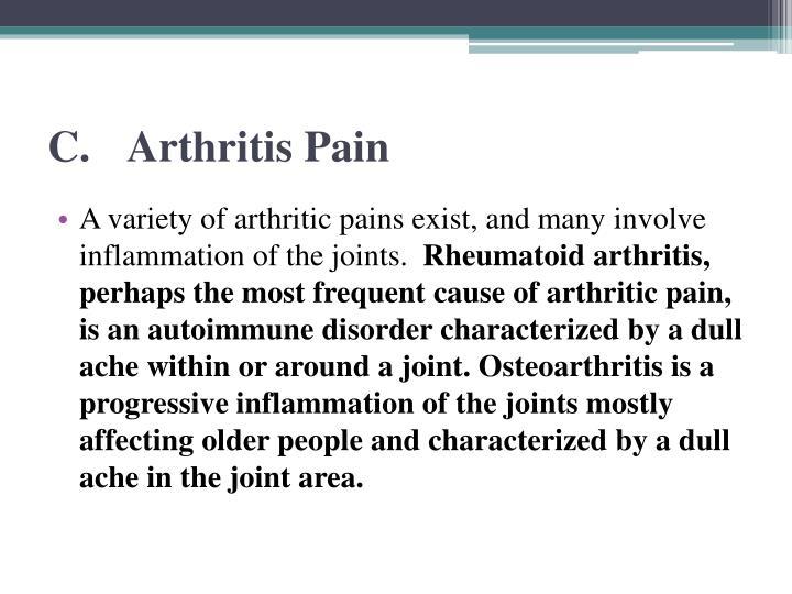 C.Arthritis Pain