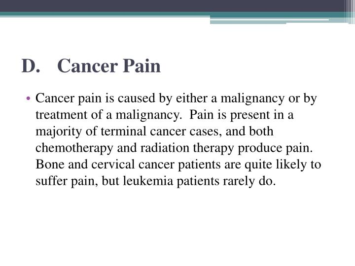 D.Cancer Pain