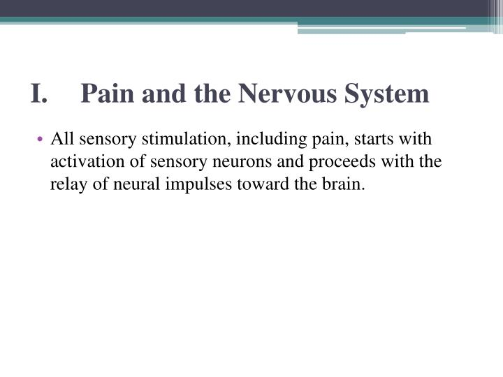 I pain and the nervous system