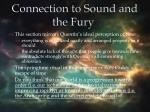 connection to sound and the fury