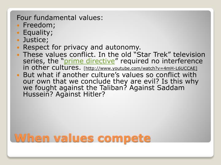 Four fundamental values: