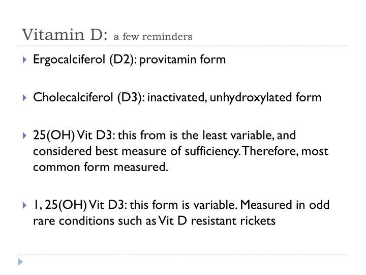 Vitamin D: