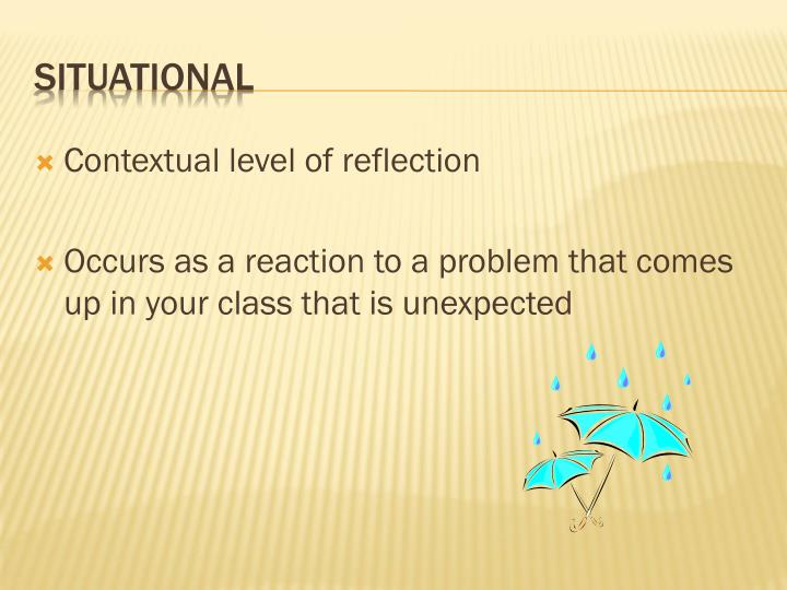Contextual level of reflection