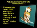 acknowledgements and compliments1