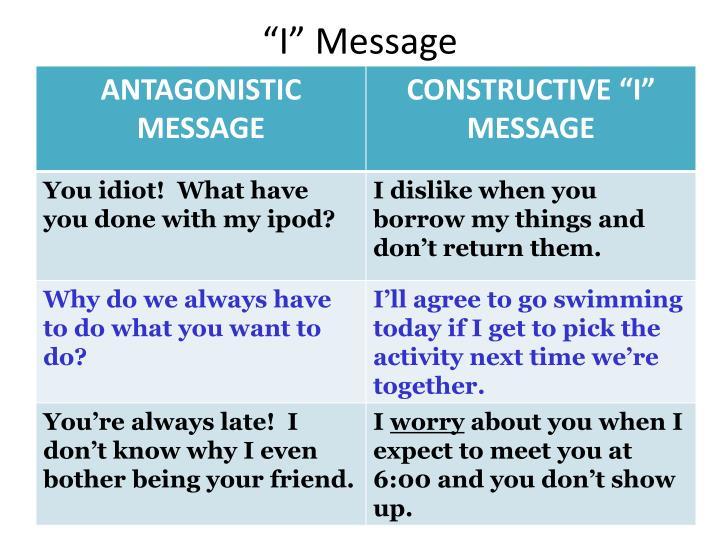 """I"" Message"