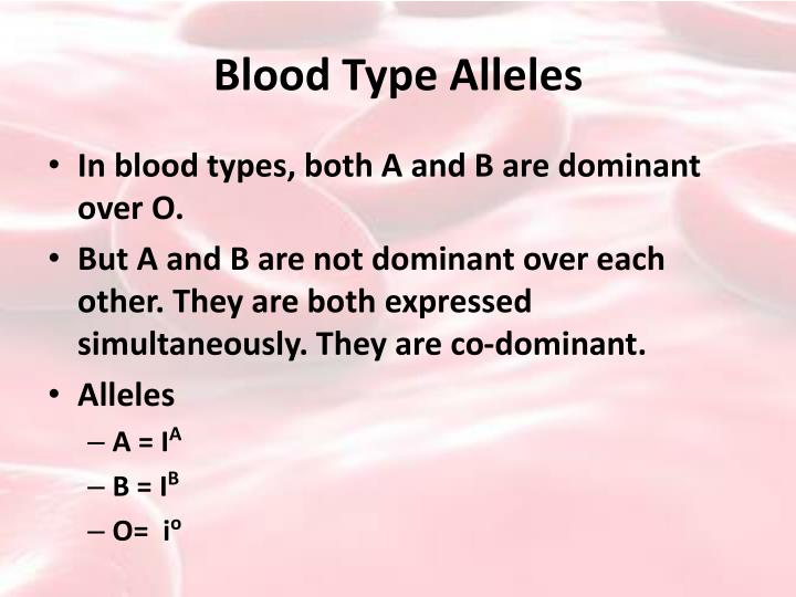 Blood Type Alleles