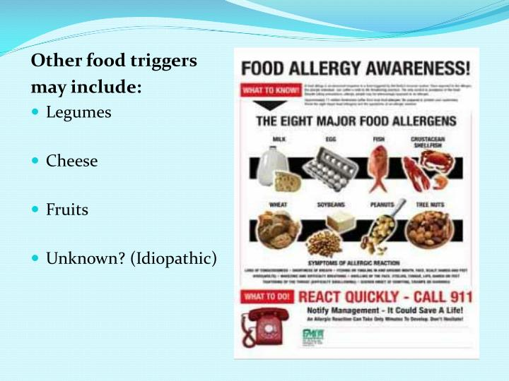 Other food triggers