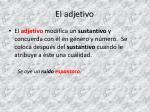 el adjetivo1