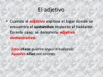 el adjetivo4