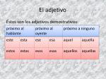 el adjetivo5