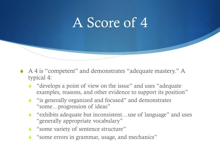 A Score of 4