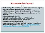 expansionist japan