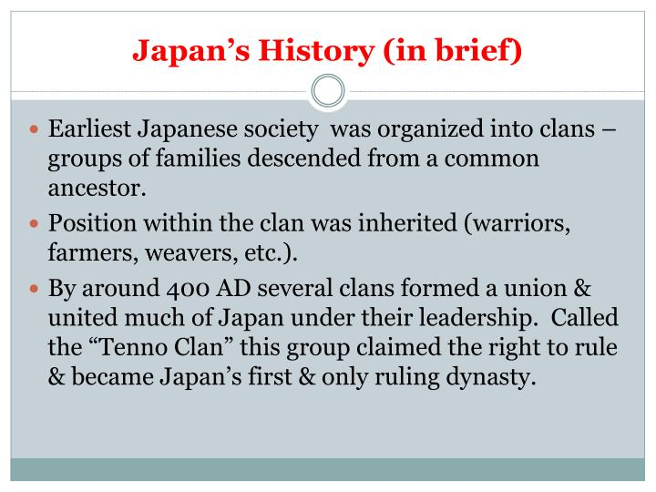 Japan s history in brief