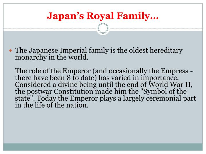 Japan's Royal Family…