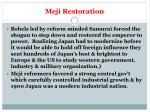 meji restoration