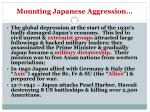 mounting japanese aggression