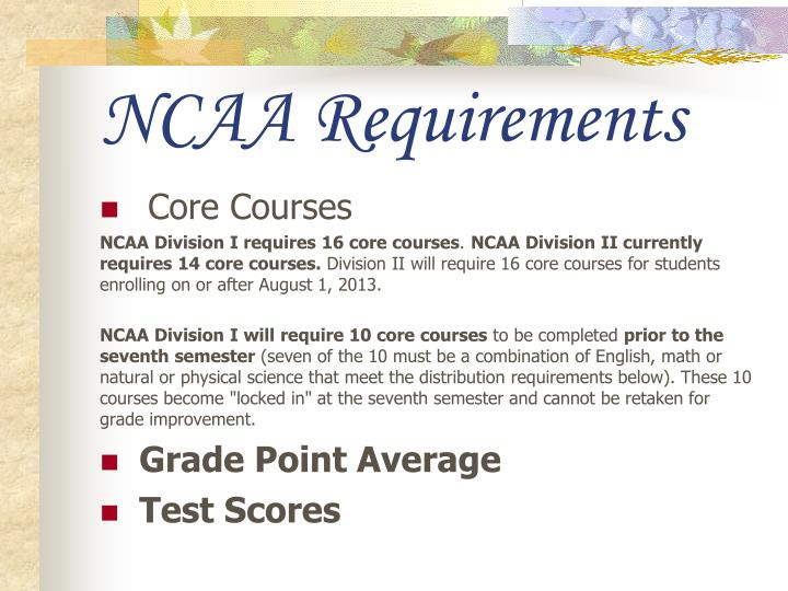 NCAA Requirements