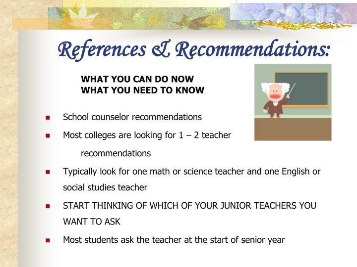 References & Recommendations: