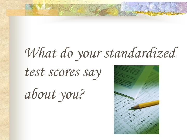 What do your standardized test scores say