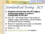 standardized testing act