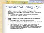 standardized testing sat