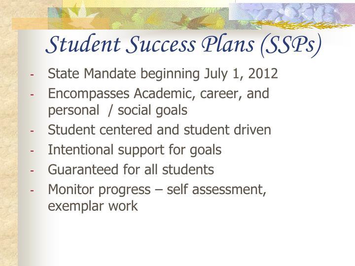 Student Success Plans (SSPs)