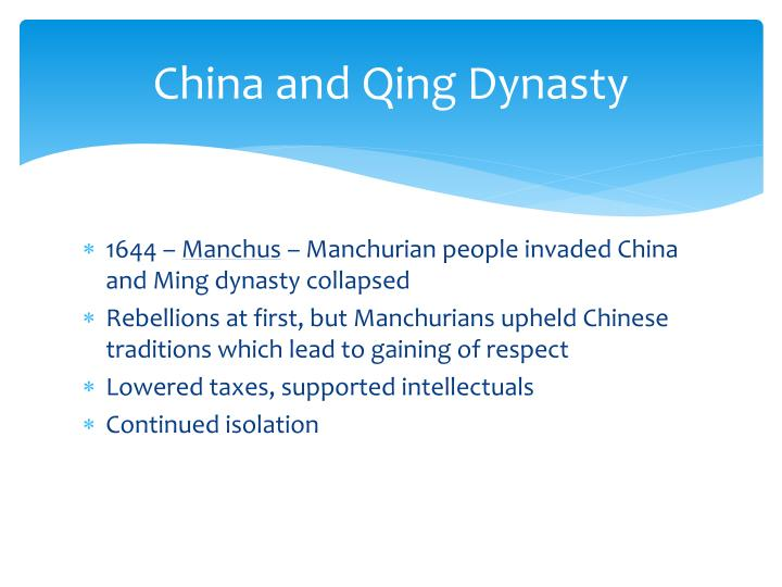 China and Qing Dynasty