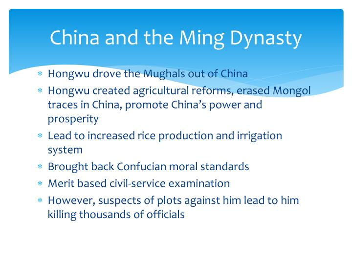 China and the ming dynasty1