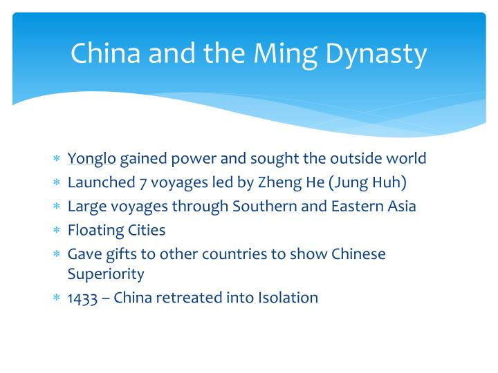 China and the Ming Dynasty