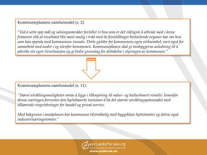 Kommuneplanens samfunnsdel (s. 2):