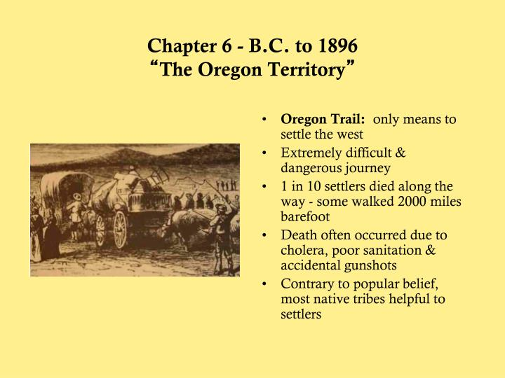 Chapter 6 - B.C. to 1896