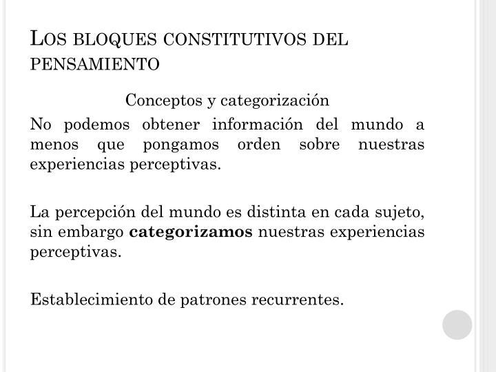 Los bloques constitutivos