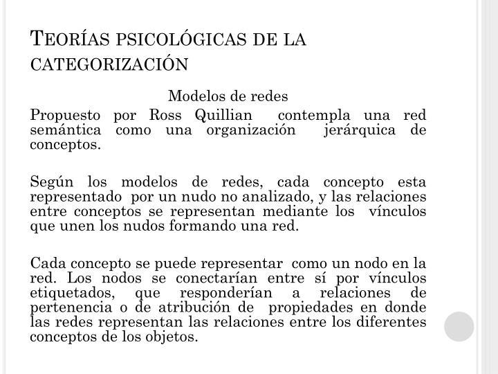 Teorías psicológicas de la categorización