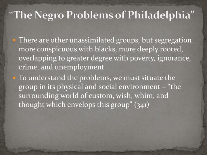 """The Negro Problems of Philadelphia"""